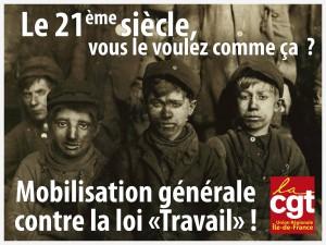 """Mobilisation générale contre la loi """"Travail"""" le 9 mars 2016"""