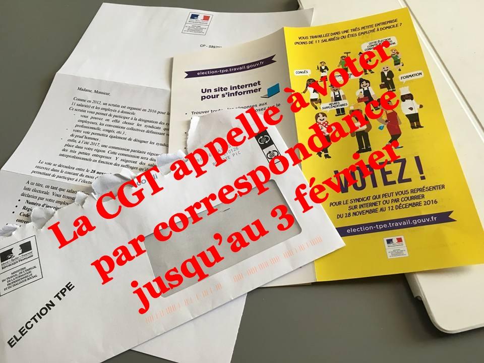 Elections TPE - 2016- vote par correspondance