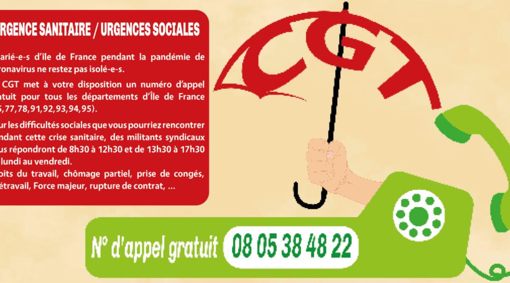 Numéro URIF-CGT-urgence sanitaire urgence sociale